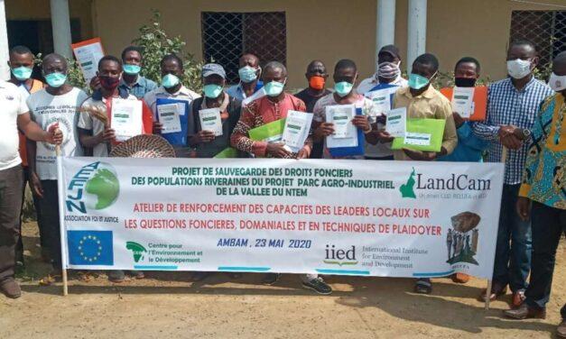Engagement de l'association foi et justice aux cotes des populations victimes d'accaparement des terres dans la vallée du Ntem
